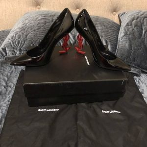 YSL black heels new never used 36.5 US size 6.5